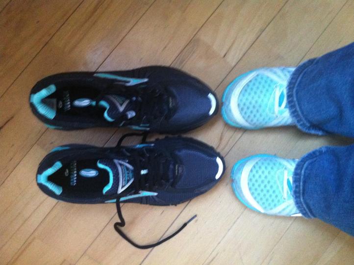 Des Carmen's neue Schuhe Brooks Adrenaline GTX und Brooks  PureConnect