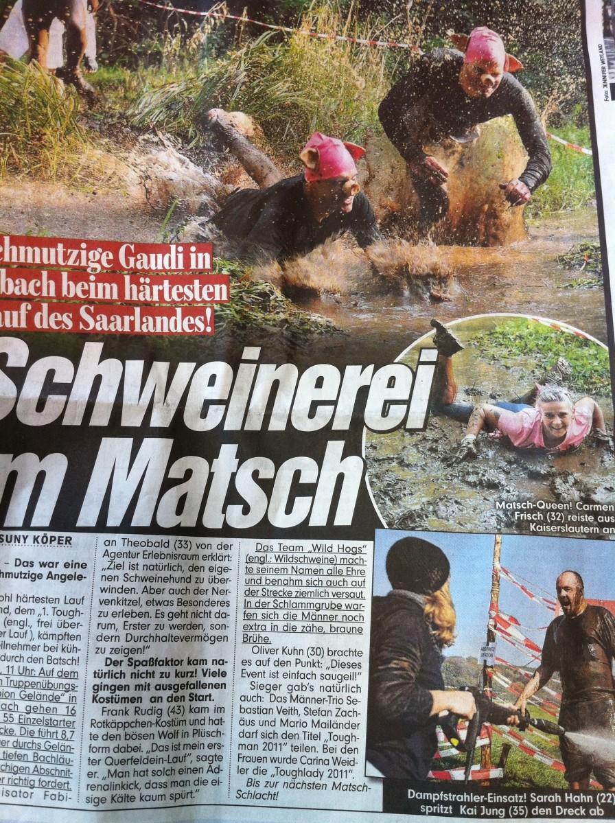 Bild Zeitung Saarland vom 24.11.2011